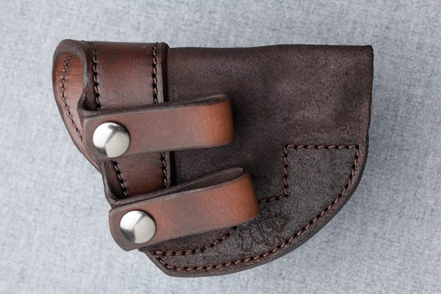 j frame iwb holster with double snap connection
